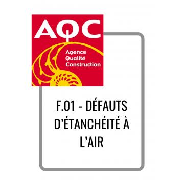 F.01 - DÉFAUTS D'ÉTANCHÉITÉ...