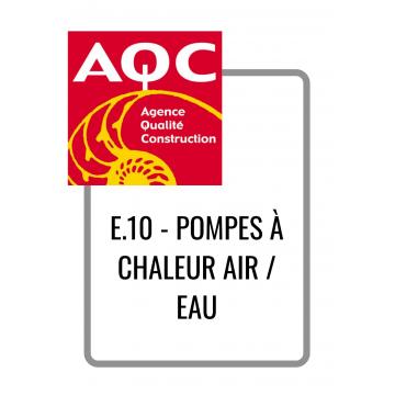E.10 - POMPES À CHALEUR AIR...
