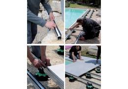 Chantier PROFILDECK® de JOUPLAST®, structure autoportante pour terrasses dalles ou bois